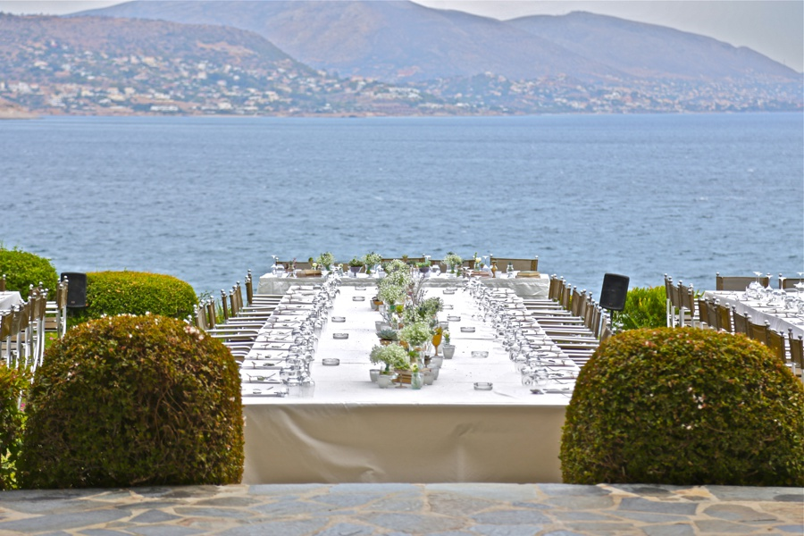 Athenian Riviera Wedding Island Restaurant Varkiza Athens Greece