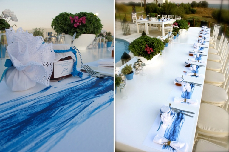 Artistic Shades of Blue Wedding in Paros @ Poseidon Hotel