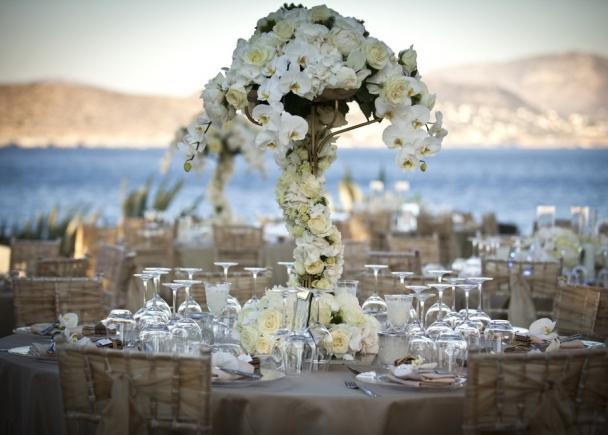 Glitzy Glam Gold Beautiful Wedding Island Restaurant Athens